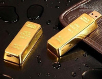 Wholesale Wholesale Gold Bar Usb Stick - Hot DHL freeshipping 64GB Gold Bar USB Flash Drive disk memory stick Pendrives thumbdrives X5