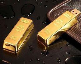 Wholesale Gold Bar Memory - Hot DHL freeshipping 64GB Gold Bar USB Flash Drive disk memory stick Pendrives thumbdrives X5