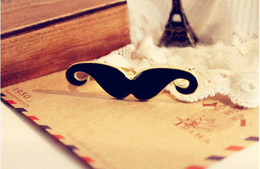 Wholesale Wholesale Two Finger Rings - Fashion jewelry enamel beard moustache two double fingers ring
