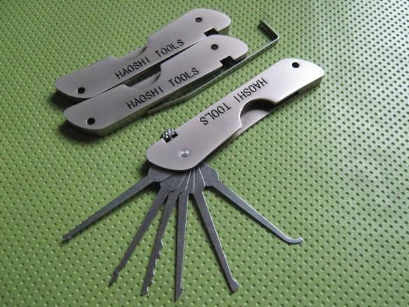 자물쇠 포켓 잠금 선택 세트 잭나이프 - JPXS-6 자물쇠 여는 도구 도구 선택 잠금