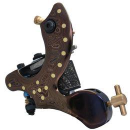 Wholesale Damascus Machine - new Damascus handcraft handmade 10 coil shader tattoo machine gun for 320