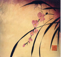 Hot Sell Abstract Chinesa Flor Palavra Pintura Hot Sell Decoração Oil Wall Art On Canvas Painting