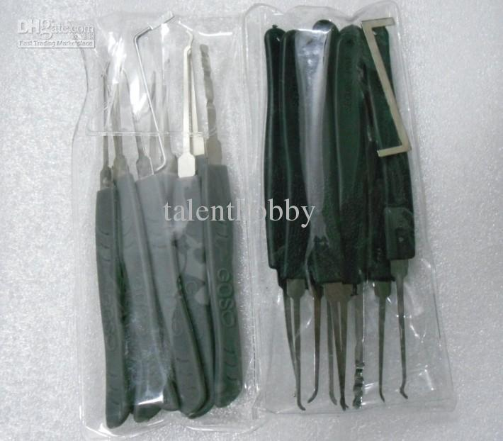 Frete grátis Chave Bloqueio Pick Set 9 peças ferramentas de bloqueio picareta Avançado, ferramentas de serralheiro