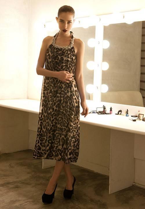 Grosshandel Damen Kleider Damen Leopard Kleid Maxi Kleid Neckholder Party Abendkleid Bohmischen Strand Kleid 6446 Von Free Loop 16 83 Auf De Dhgate Com Dhgate