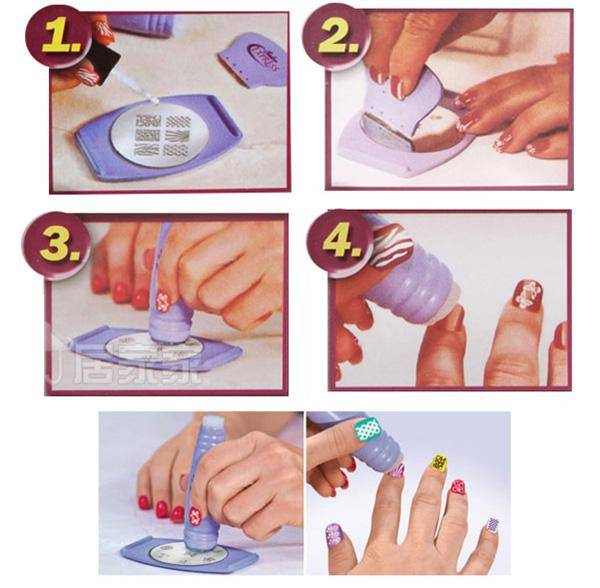 Nail Art Stamping Kit Salon Express Printing Stickers Wraps Scraper DIY Tools