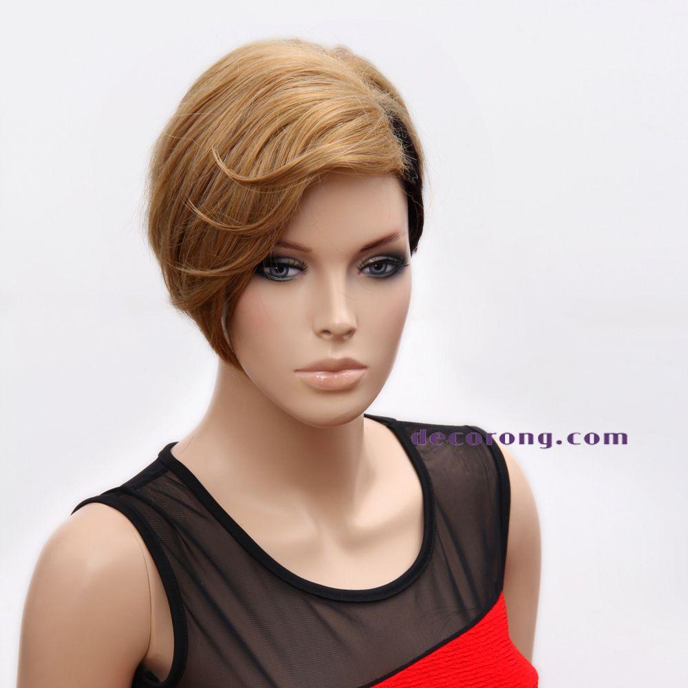 rihanna wigs halloween wig high synthetic black wigs for women short