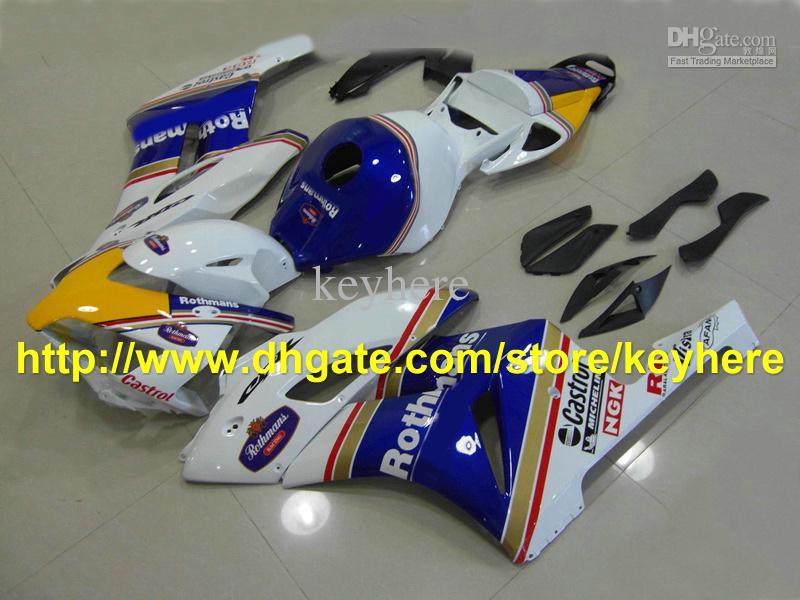 Carenados de inyección para 2004 2005 Honda CBR1000RR RR 04 05 cuerpo CALIENTE! La mejor venta hermosa azul RX0L 0a