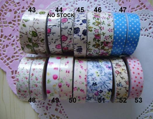 best selling Flower Fabric DIY Tape Lovely self-adhesive Washi Masking Cloth Tape self-adhesiveTape