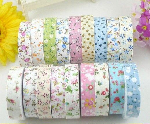 Nastro in tessuto a fiori Nastro adesivo Washi mascheratura adesivo autoadesivo