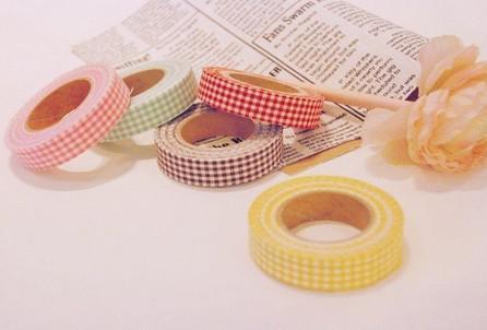 top popular Washi Masking Cloth Tape self-adhesive Decoration Fabric Tape Janpan style Flower Frabric DIY Tape 2019