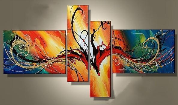 Color Design Art : Dancing color design art group oil paintings museum