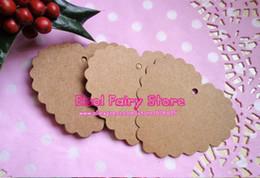 Wholesale Art Blank - Gift Tag Retro Hang tag Kraft Paper Blank Heart Shape tags price tag