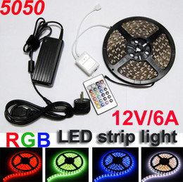 Multifrequenza online-Multi-Colour SMD 5050 RGB LED Strip Light 300led Impermeabile Telecomando IR a 24 tasti + alimentatore
