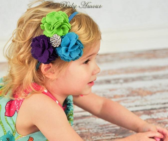 Baby Babyamour Blumen Haarband Stirnband Haar Schal Säugling Headwear Haarschmuck Schmuck