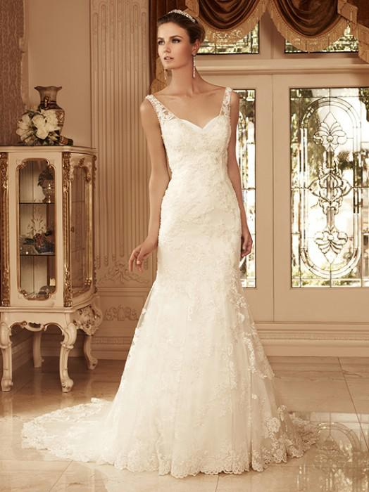 Vintage Couture Ivory Beads Y Backless Lace Mermaid Bridal