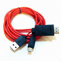 Wholesale mobile phone hdtv online - Piece New Smart Cable Adapter For Galaxy S3 Mobile Phone To HDTV HDMI Adapeter Cable