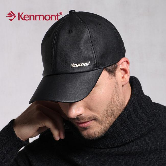 Kenmont PU Leather Baseball Cap New Arrival Hat Black Km 2219 Kids Hats Ball  Caps From Xiaoguichen 084a6521272a