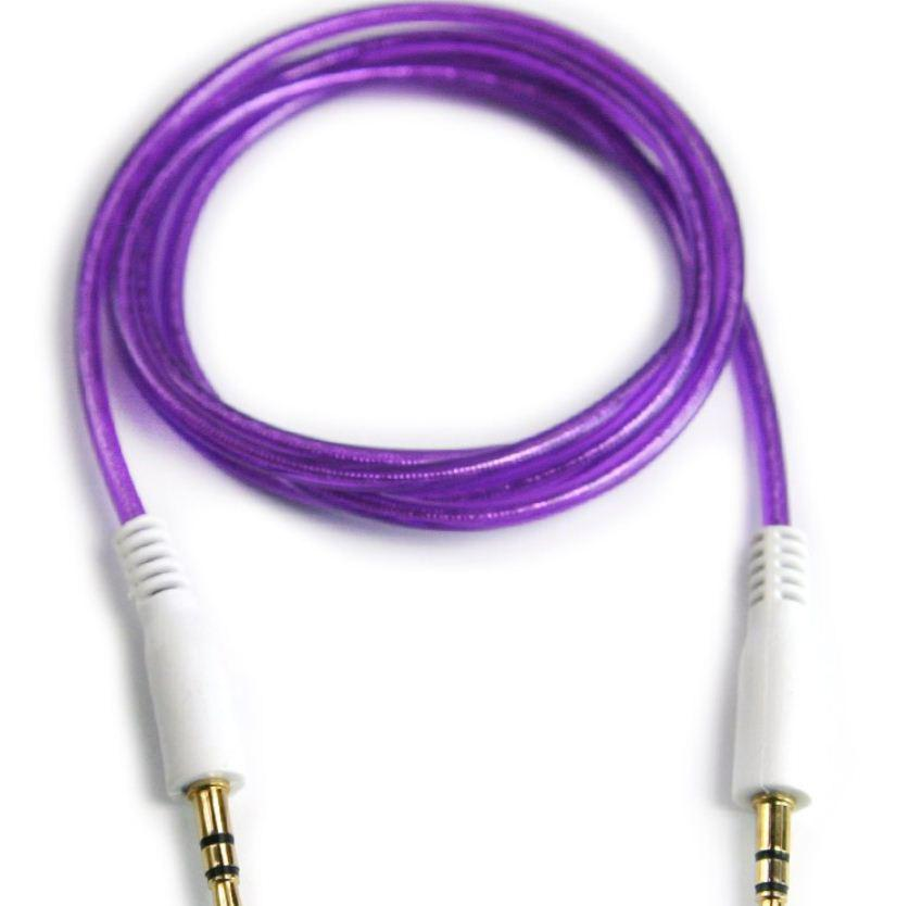 1M Double Layer 3.5mm Male to Male Stereo Aux car Audio Cable for iPhone iPod MP3 china-post