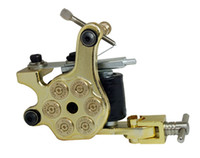 Wholesale golden liner - new bullet golden top liner shader 2pc lot cast iron tattoo machine gun 10 wrap