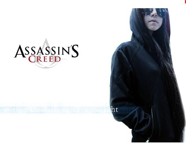 Irmãos Assassin's Creed 3 vai DESMOND Hoodie águia camisola do hoodie bolso