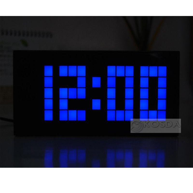 Big Jumbo LED Alarm Clock Digital Wall LED Clocks Countdown Timer Wiht  Calendar And Temperature Big