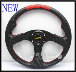 Wholesale Carbon Fiber Steering Wheels - NEW MOMO steering wheel of the Energizer change level carbon fiber pvc steering wheel 14-inch \ c