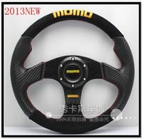 Wholesale Momo Carbon Steering Wheel - Professional racing steering wheel MOMO modified carbon fiber pvc + matte steering wheel 13-inch
