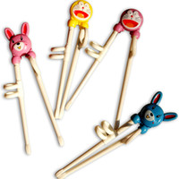 Wholesale Kids Training Chopsticks - Mix color Training Chopsticks Kids Right Left Children learn chopsticks educational chopsticks