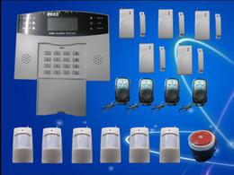 Wholesale Gsm Sms Remote Control - GSM SMS Home Burglar Security Alarm System Detector Sensor Kit Remote Control