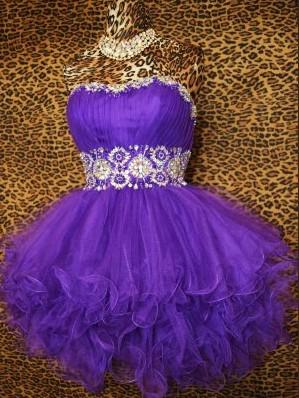 Wholesale 2015 Purple Short Prom Cocktail Party Pageant Formal ...