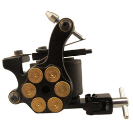 Wholesale Iron Handmade Tattoo - Solong Tattoo Professional New Coil Tattoo Machine Bullet Gun for Shader 10wraps Black Red Blue Gold Color MZZ033