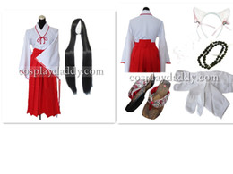 $enCountryForm.capitalKeyWord Canada - Inuyasha Kikyo Cosplay Costume including necklace+wig+shoes Cosplay Costume Any Size