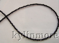 Wholesale Onyx Faceted Bead - 8SE03743 Wholesale 2Strands Natural 3mm Onyx Faceted Round Beads 15.5''