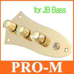 Wholesale Loaded Bass - Gold Control Plate Wired Fully Loaded for JB Style Jazz Bass Gilded, Free Shipping+Drop Shipping