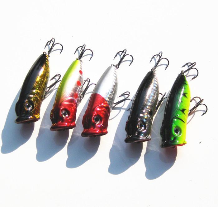 leurre de pêche popper 65mm 13g 10 pièces / livraison gratuite