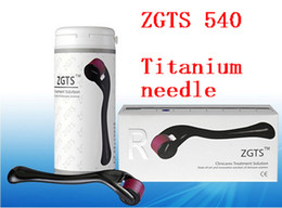 Derma roller zgts titanium online shopping - Retail ZGTS Titanium alloy Needles Derma roller Micro Needle skin Derma Roller