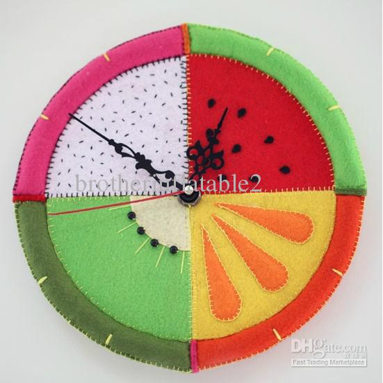 Diy Baby Wall Clock Fabric Child Clock Diy Clock Wall