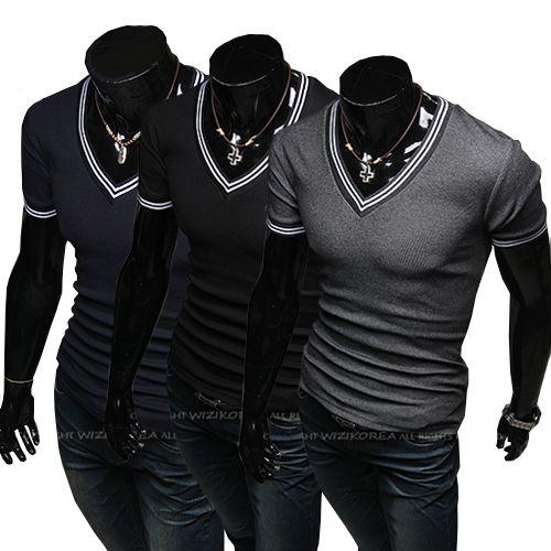5df3c39aa828 Mens T Shirts2013 Hot Sale Mens Designer Casual V Neck T Shirts Tee Shirt  Slim Fit Tops New Short Sl Online Tshirt Shopping Artistic T Shirts From  Edress, ...