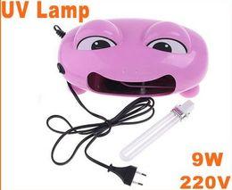 Wholesale Cute Frog Lamps - Pink Cute Frog Nail Art Gel Curing UV Lamp 9W 220V UV Light Dryer( EU Plug), Free Shipping