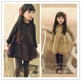 Wholesale Wool Dress 12 - Girls Dresses New Wool Sleeves Temperament Dresses Children's Clothing