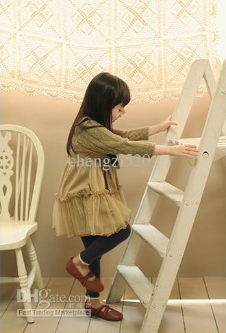 Girls Dresses New Wool Sleeves Temperament Dresses Children's Clothing