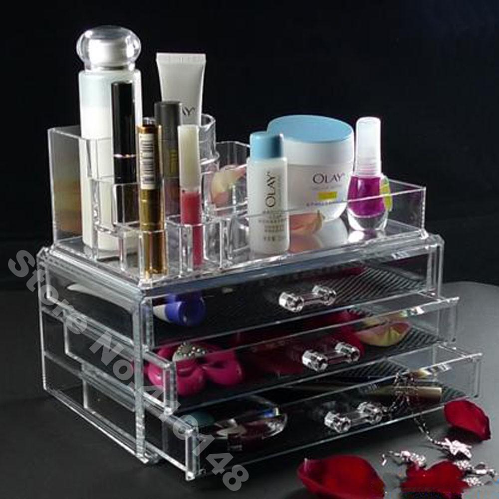 2018 Makeup Organizer Cosmetic Crystal Acrylic Case Display Box