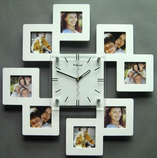 free ship fashion frame wall clock wall quartz white black pink, Home decor