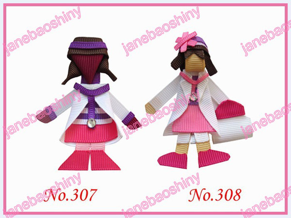 free shipping 250pcs fashion popular character hair bows girl clips popular girl baby hair bow clips