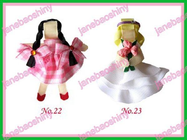free shipping 60pcs fashion popular character hair bows girl clips popular girl baby hair bow clips