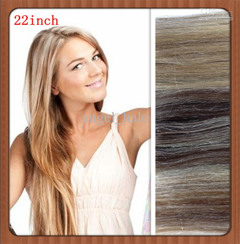 18613 100 Human Hair Extensions Clip On Natural Straight Hair