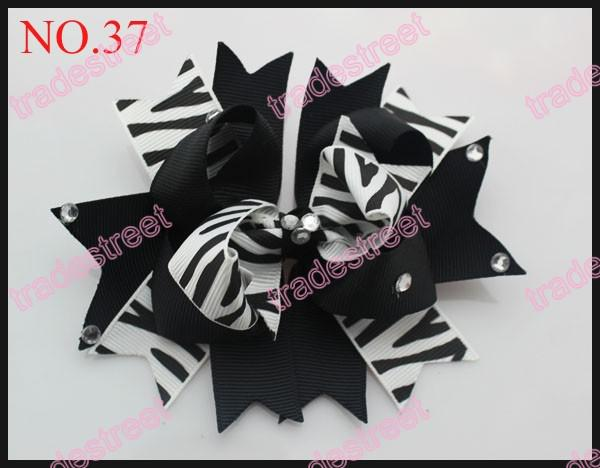 4.5'' diamond boutique hair bows fashion girl boutique hair bows novety clips