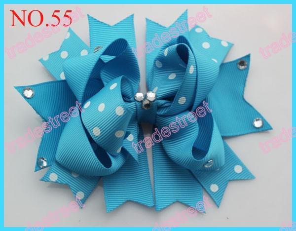 free shipping 30pcs 4.5'' diamond boutique hair bows fashion girl boutique hair bows novety clips