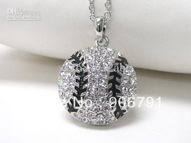 Wholesale crystal stud baseball pendant necklace sports jewelry mens wholesale crystal stud baseball pendant necklace sports jewelry mens necklace handmade jewellery from yxz687912abc 1282 dhgate aloadofball Gallery