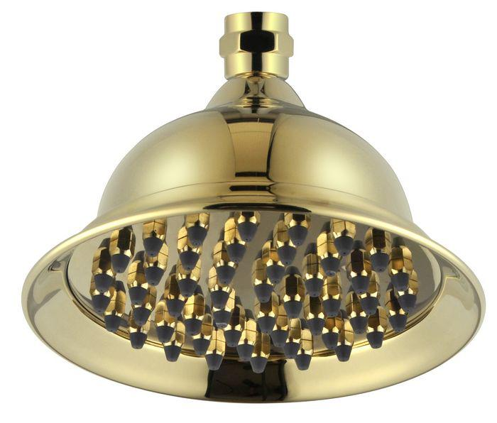 6inch rain shower head thicken brass thicken zirconium gold color finish a6zzdp04